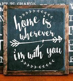 Home is wherever Im with you